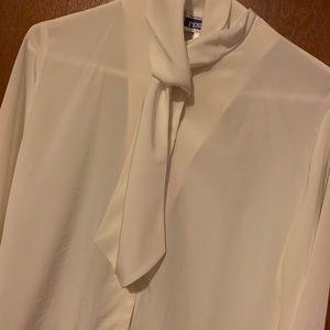Pendleton Tops - white long sleeve blouse for women